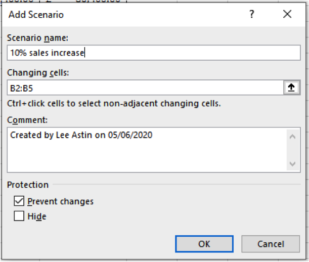 Scenario Analysis in MS Excel